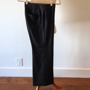 Ann Taylor fully lined shiny black trousers